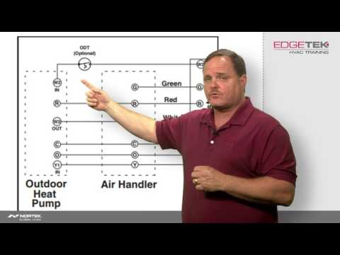 Wiring a Heat Pump Thermostat to the Air Handler and Outdoor Unit