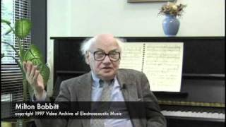 Milton Babbitt  on Electronic Music