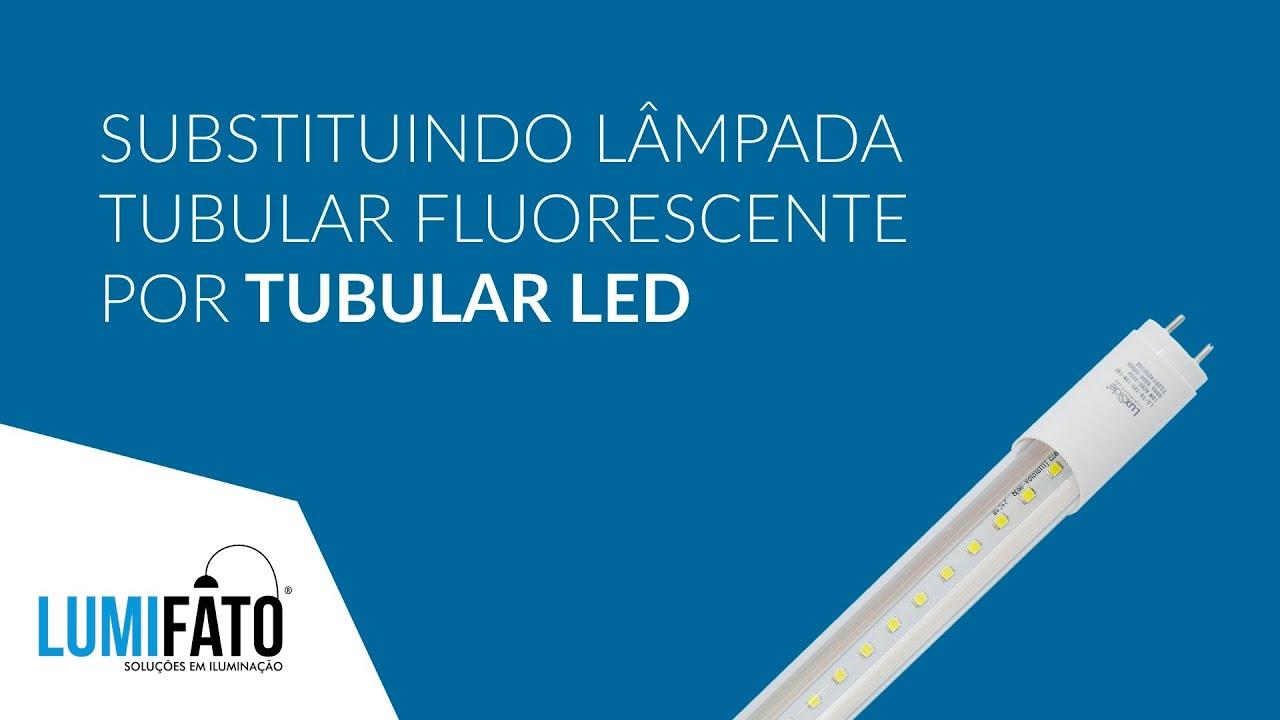 Como substituir sua l?mpada fluorescente por tubular LED LuxSide ...
