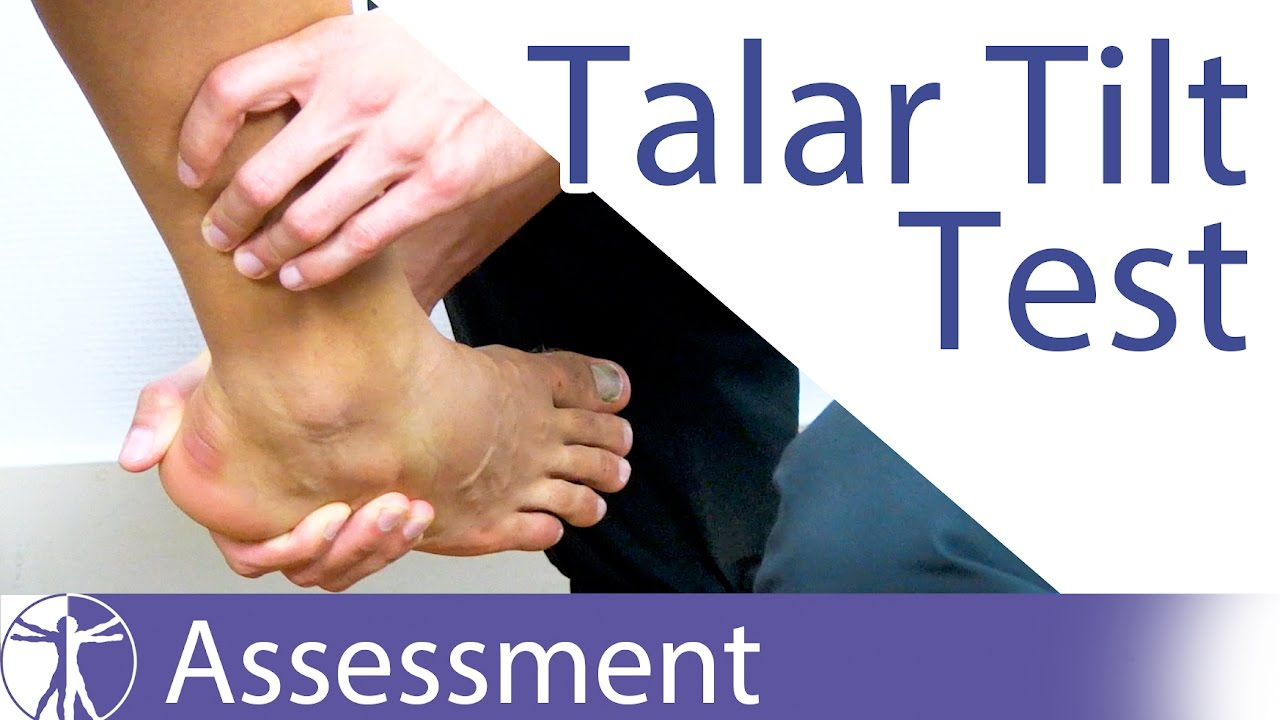 The Talar Tilt Test | Lateral Ankle Sprain - YouTube