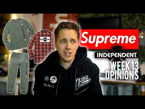 SUPREME DROPS TODAY + WEEK 13 OPINIONS + LIVE COP (KINDA)
