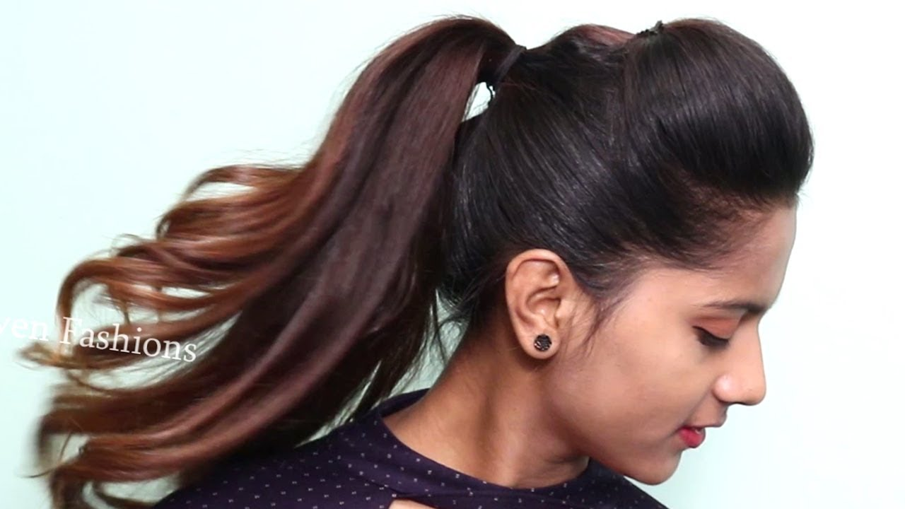 Black Long Hair Style: Easy Ponytail Hairstyles For Girls