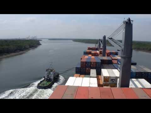 Departing Guayaquil Port, Ecuador