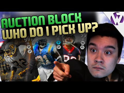 ULTIMATE LEGEND LT OR GT MARCUS ALLEN?! - WHO SHOULD I GET ON THE SQUAD? - MADDEN 16 AUCTION BLOCK