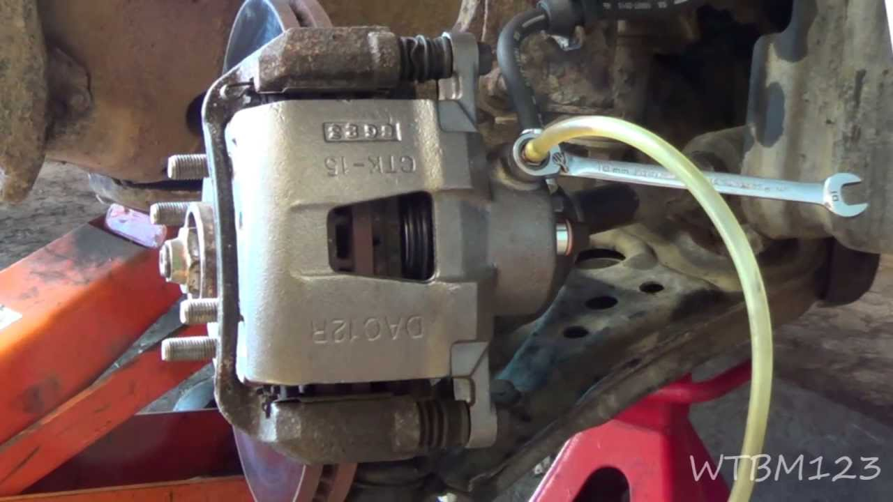 Stuck Brake Caliper Or Bad Rubber Brake Line Youtube