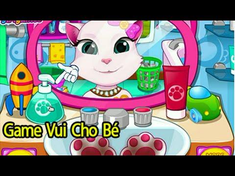 [ Game Vui Cho Bé ] Trò Chơi Mèo con đánh răng, rửa mặt, khám răng nha sĩ.