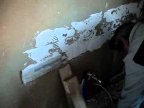 Versuch die Natursteine an die Wand zu bekommen - YouTube