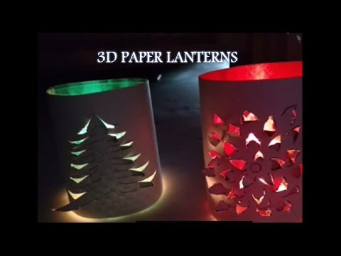 Handmade 3D Paper Lanterns Decoration Idea