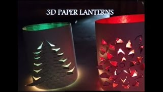Handmade 3D Paper Lanterns Decoration Idea - DIY