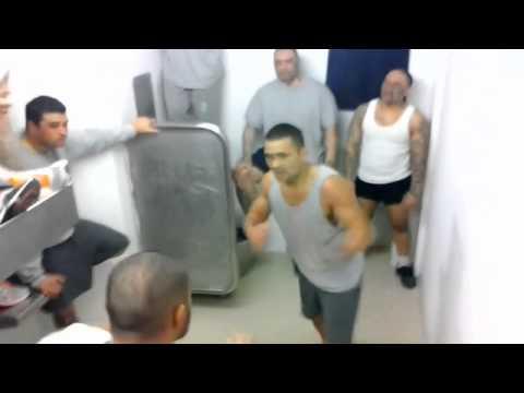 Gruesome Prison fight Prisoners go bare knuckle