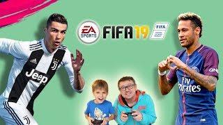 Ronaldo vs Neymar Jr Our 1st FIFA 19 video