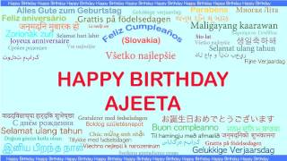 Ajeeta   Languages Idiomas - Happy Birthday