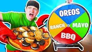 WHEEL OF PIZZA FOOD CHALLENGE!