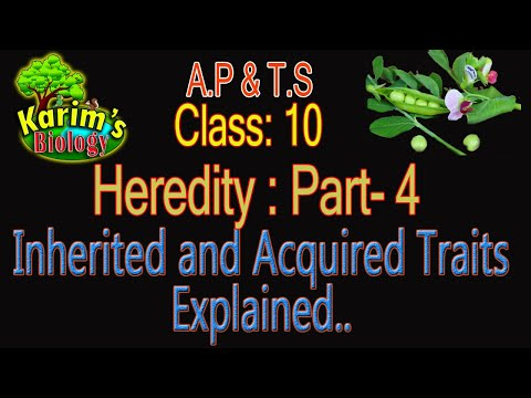 AP & TS Class: 10 - Biology - Heredity- Part - 4 - Inherited and Acquired Traits
