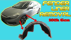 2016 2017 2018 Honda Civic Fender Liner Removal How to Remove Replace Install 10th Gen