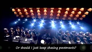 Adele - Chasing Pavements with Lyrics - Live at The Royal Albert Hall