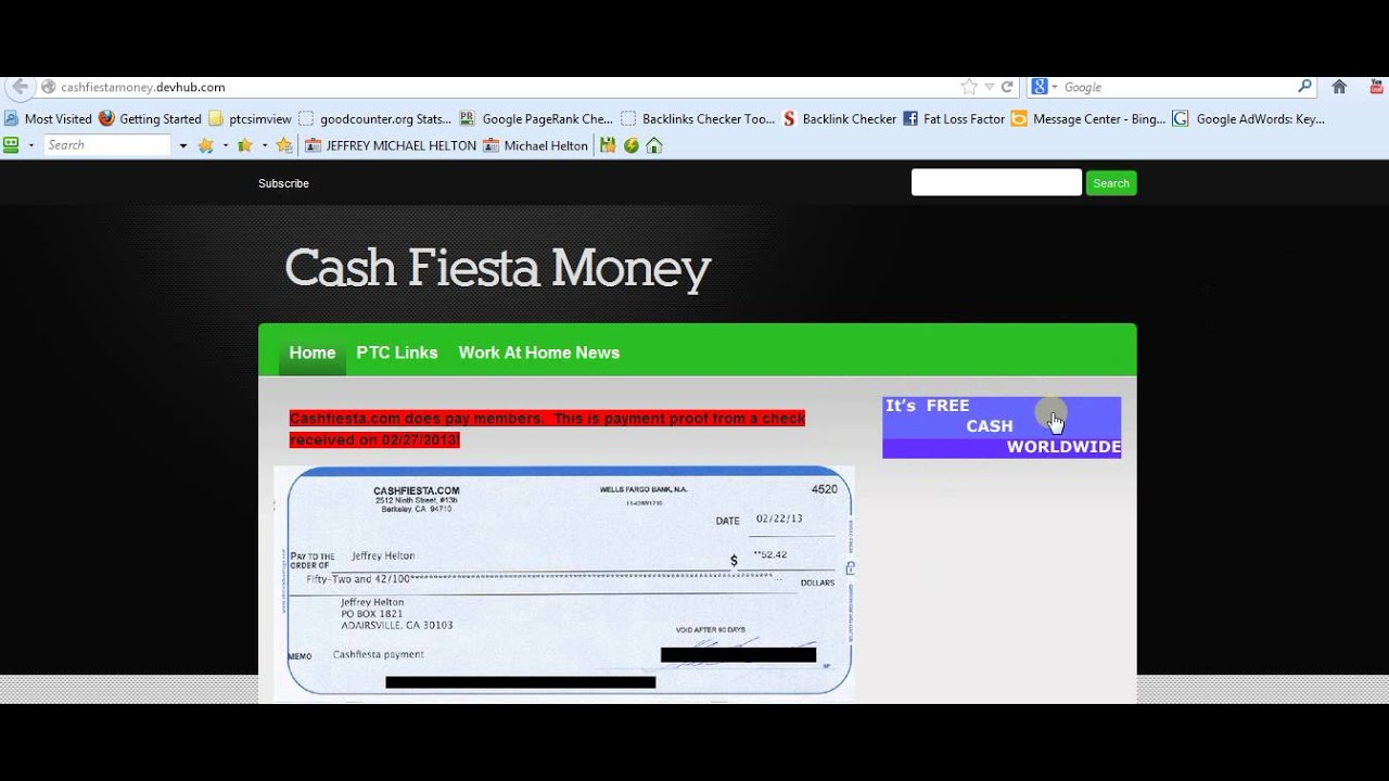 CashFiesta payment proof http://cashfiestamoney.devhub.com