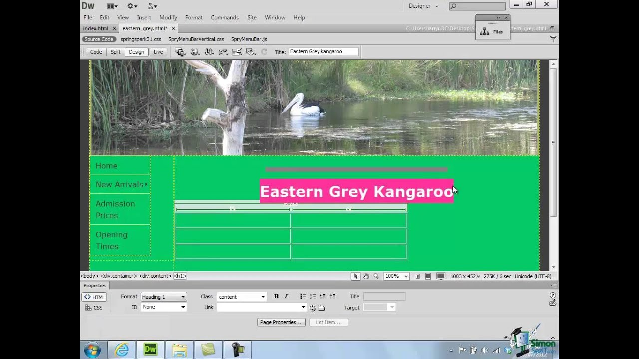 templates for dreamweaver cs6 - dreamweaver cs6 tutorial part 43 creating a template