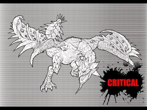 [크리티컬]드로잉 - 몬스터헌터 리오레이아  - 그림 그리기 [Critical] Monster Hunter - Rathian - Speed Drawing