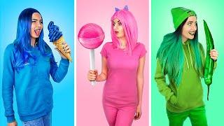 Download Цветной челлендж! Покупаем вещи и едим еду одного цвета 24 часа! Mp3 and Videos