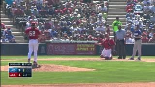 MLB: LAN AT ANA - March 28, 2015