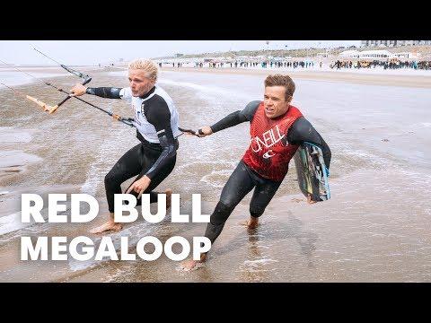 Als Kiteboarders Rondvliegen In Een Nederlandse Storm