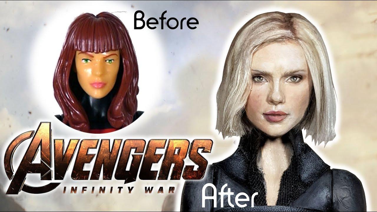 Black Widow Custom Doll Avengers Infinity War Repaint Diy