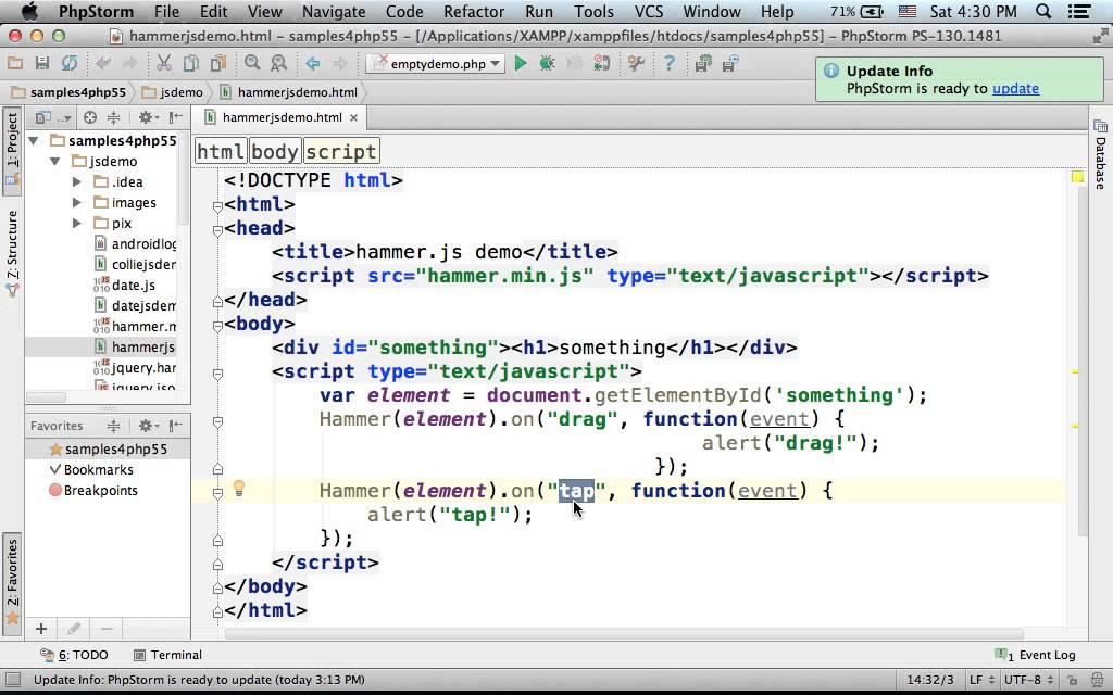 Hammer js Simple Demo