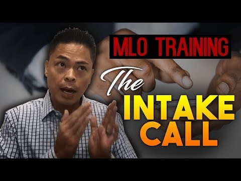 Mortgage Loan Origination Sales Training Video 1 Of 2 : The Intake Call