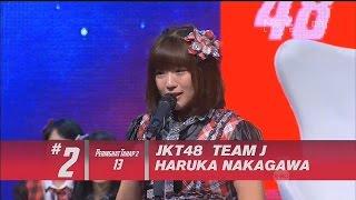 仲川遥香 JKT48 総選挙2015 第2位 号泣スピーチ Haruka Nakagawa Speech Pemilihan JKT48 2015 2nd