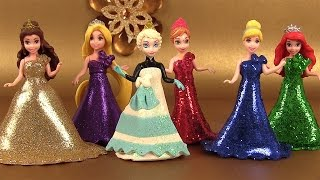 Play Doh Sparkle Princesses Elsa Ariel Belle MagiClip Pâte à modeler