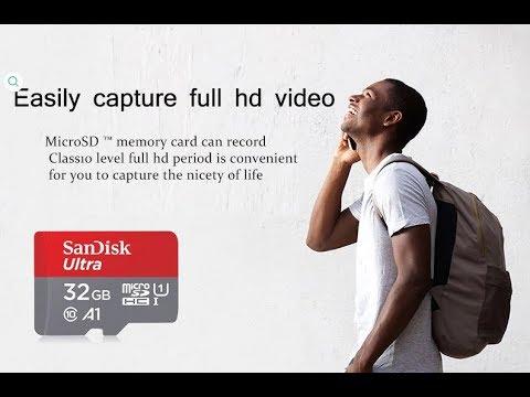 Sandisk Карта памяти Micro SD карта A1 32 Гб SDHC/SDXC
