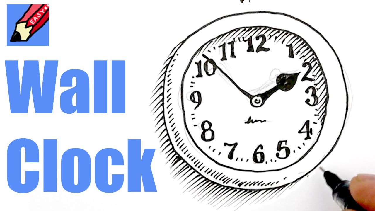 How to draw a Wall Clock Real Easy - YouTube