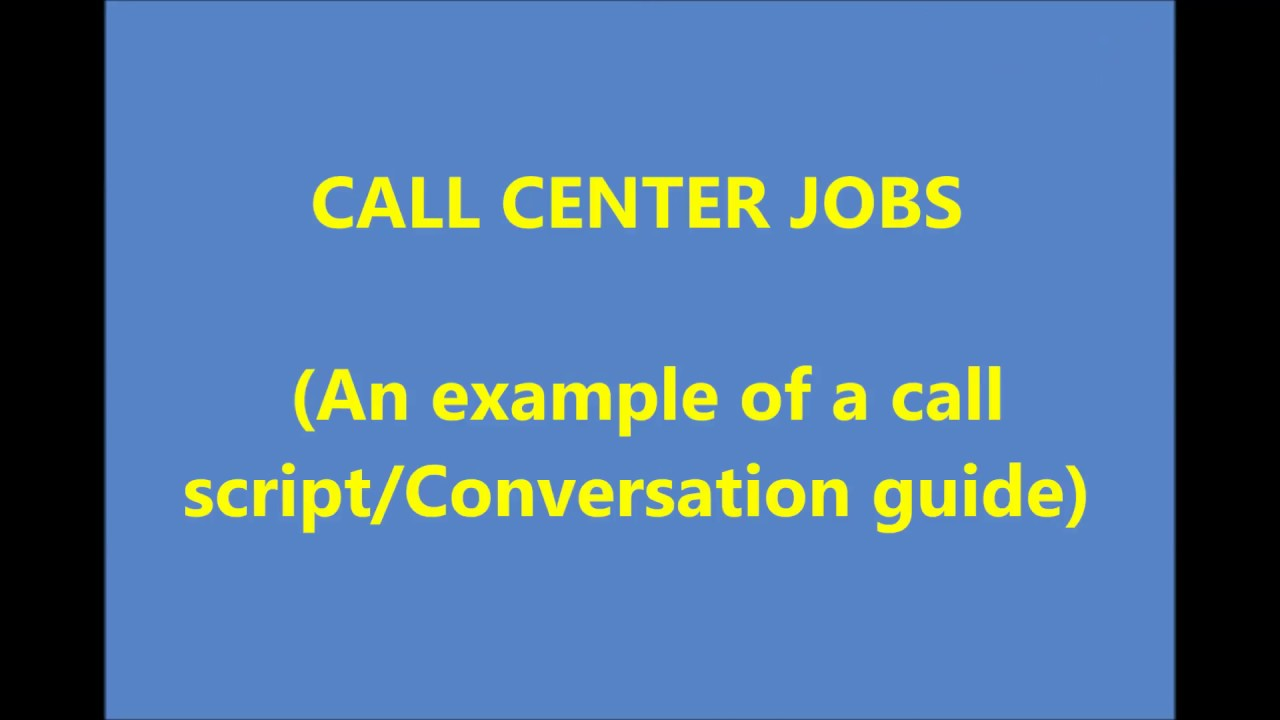call center advertisement sample