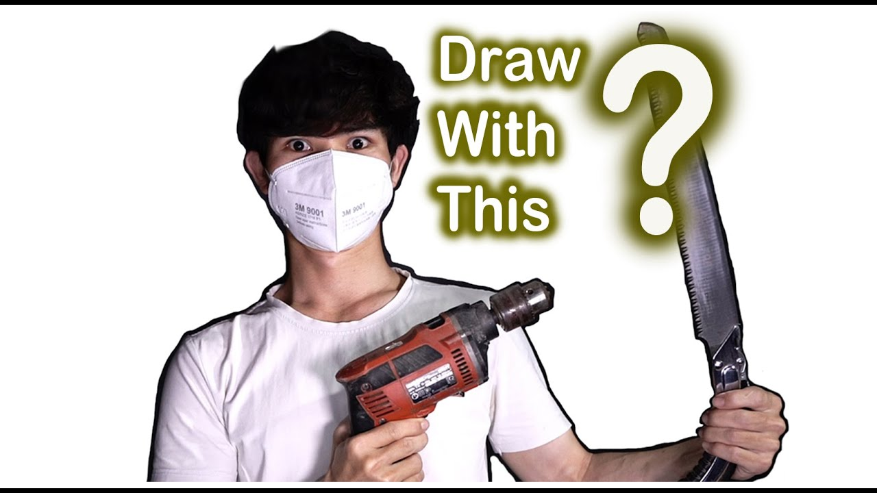 Can I Draw With woodworking tools ? ART CHALLENGE