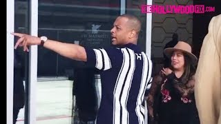 ti greets fans while arriving to the bet awards experience at the staples center 62417