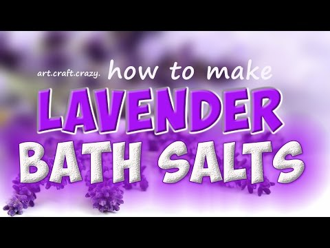 lavender bath salts tutorial   dried lavender