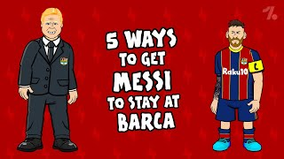 5 ways Messi can STAY at Barça! ► OneFootball x 442oons