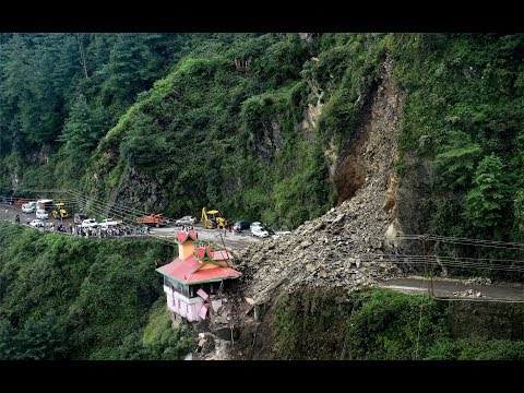 Shocking Moment Dramatic landslide in India