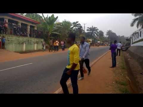 Masquerade Sprint At Mbaukwu - Awka South Anambra State, Nigeria