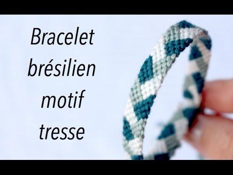 Diy Bracelet Bresilien Motif Tresse Marion Blush Youtube