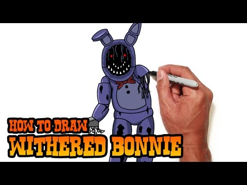 How to Draw Withered Bonnie | Five Nights at Freddy's