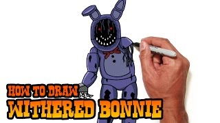 How to Draw Withered Bonnie | Five Nights at Freddy