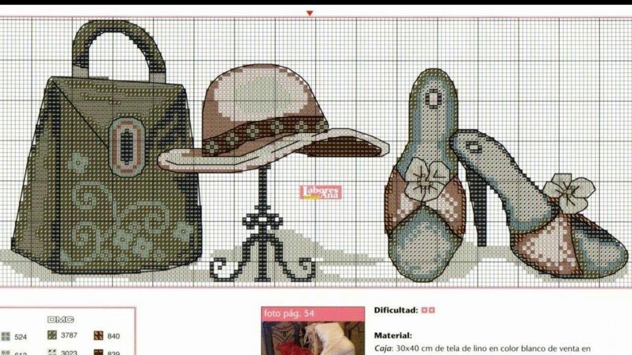 100 patrones de Sombreros y Barbie | Aprende punto de cruz paso a ...