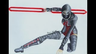 Asajj Ventress Drawing:Star Wars
