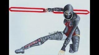 Asajj Ventress Drawing:Star Wars(Clone wars)