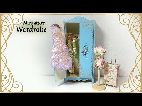 Miniature Vintage Wardrobe - Dollhouse Tutorial