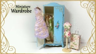 Miniature Vintage Wardrobe - Dollhouse Tutorial