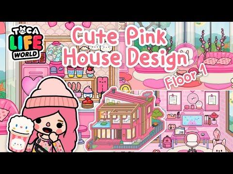 Toca Life World #17 💞🍧🏠| Cute Pink House Design | Moder Mansion | แต่งบ้านสุดหรู2ชั้นธีมสีชมพู💖