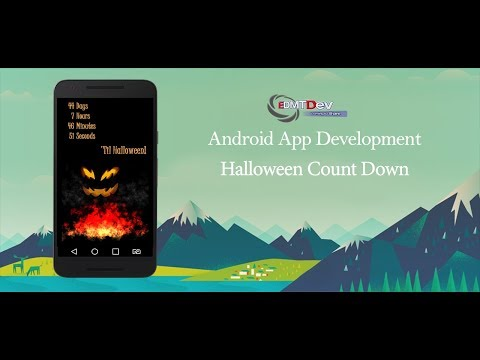 Android Studio Tutorial - Halloween Count Down App